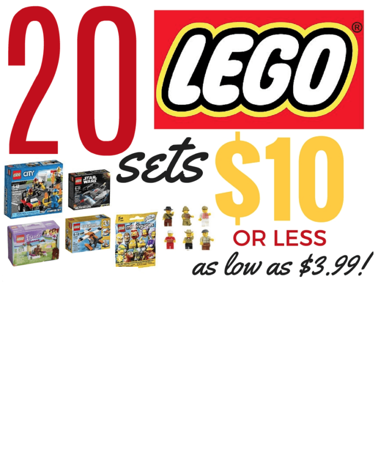 Amazon : 20 LEGO Sets Just $10 or Less! (As of 12/12/2018 9.54 PM CST)